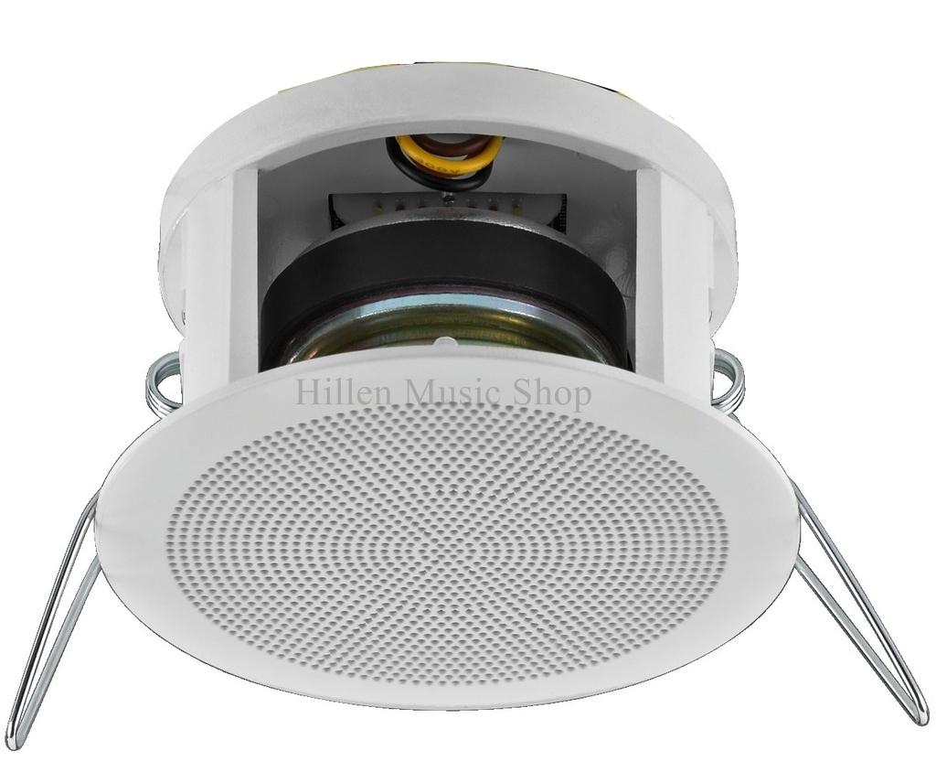 30 watt 83mm mini deckenlautsprecher weiss mit klemmbefestigung. Black Bedroom Furniture Sets. Home Design Ideas