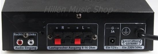Mini Verstärker STEREO+Fernbedienung USB-SD Anschluß 230V und 12V